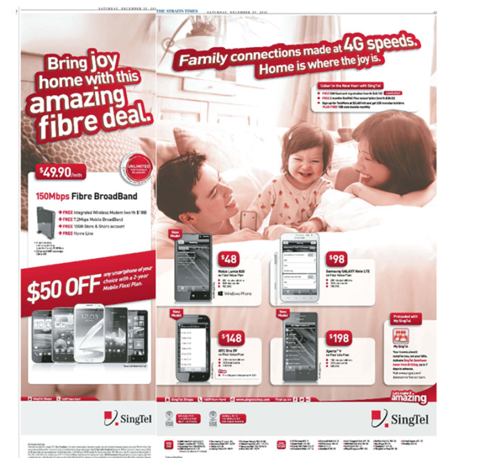 SingTel - Home is Where the Joy is ad