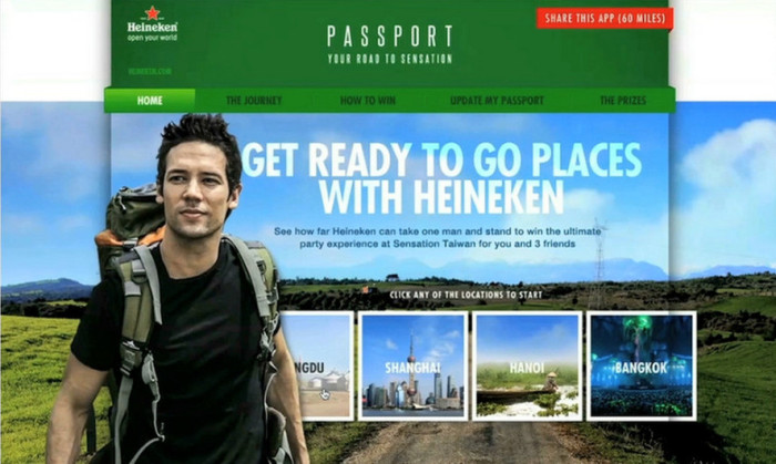 Heineken_digital passport campaign