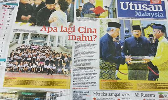 UtusanMalaysia headline_May13