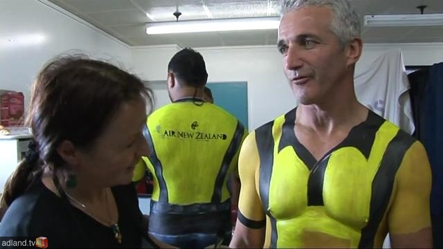 Air NZ chief Rob Fyfe gets down to basics for an Air NZ ad.