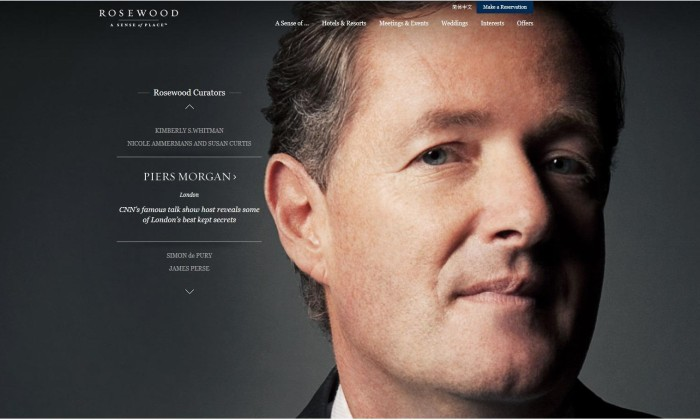 piers Rosewood Hotels website revamp