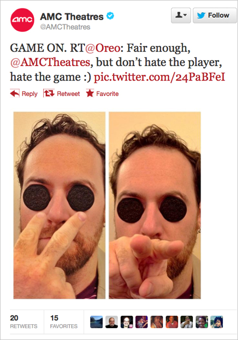 AMC Tweet Response to Oreo