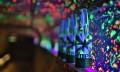 Club bottle under UV light setup