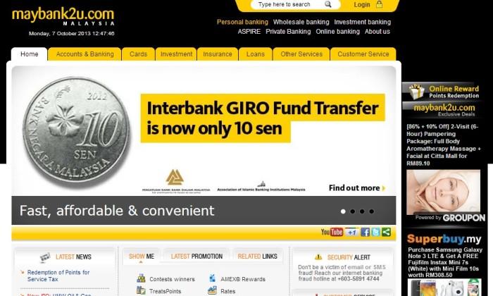 Maybank2u website