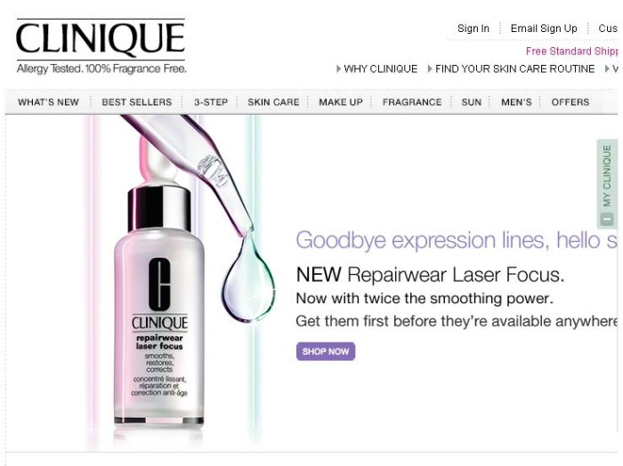 Click and shop for Clinique