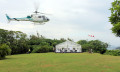 Peroni Amici event saw customers flown to dinner in a chopper.
