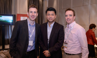 Chris Hatfield, director of digital consumer marketing and media at Clinique with Clement Cheung of M·A·C Cosmetics and Sean Rach, regional director, brand & corporate affairs at Prudential Corporation Asia.