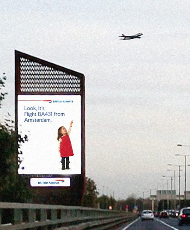 WATCH] British Airways' perfect timing billboard | Marketing