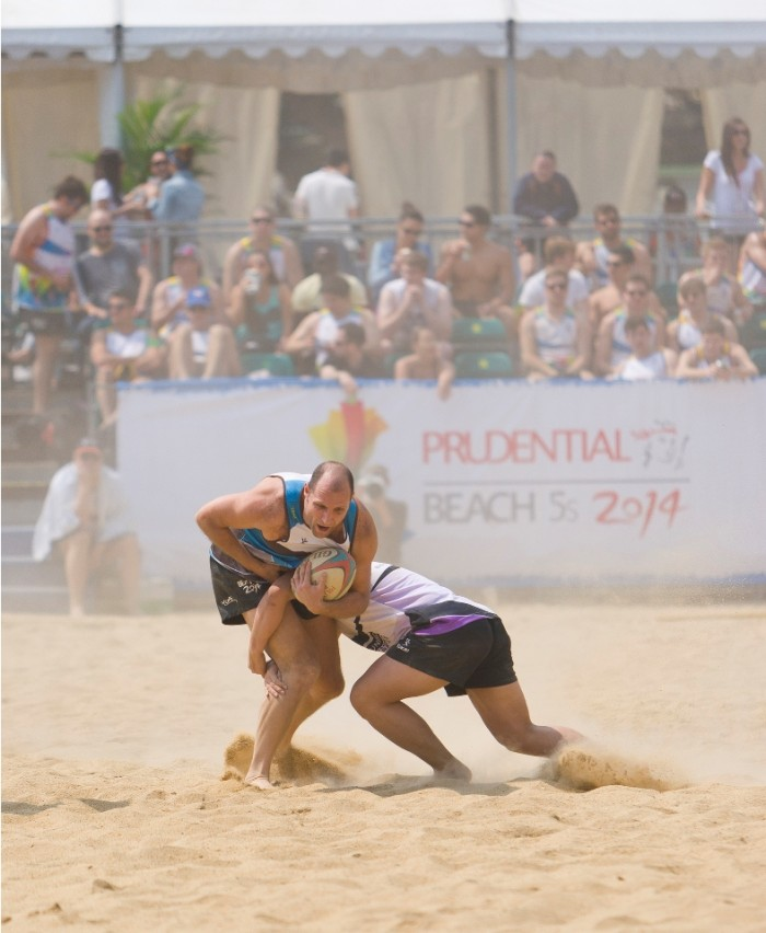Beach Rugby Players playing Prudential Beach 5s 2014 at the Repulse Bay on March 22-resize