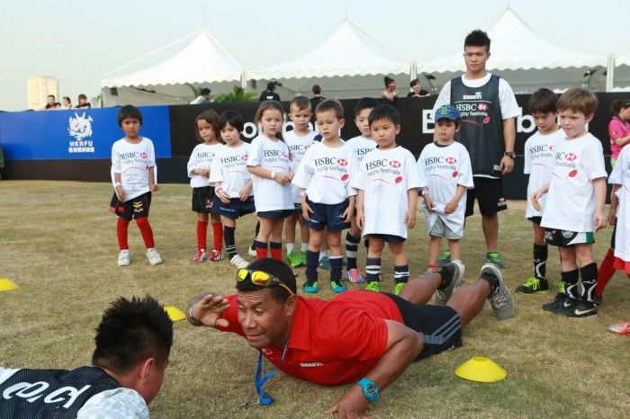 Rugby Sevens legend, Waisale Serevi of Fiji, led a coaching session