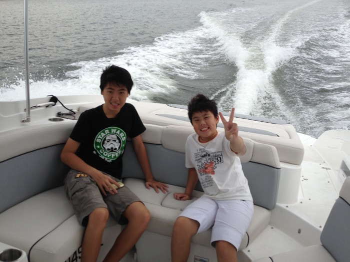 Boat trip with Ryan and Oliver
