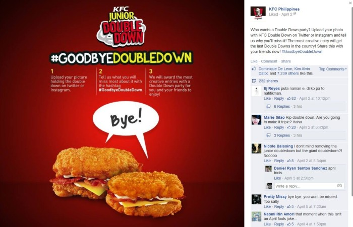 KFC's Double Down bids farewell in the PH | Marketing