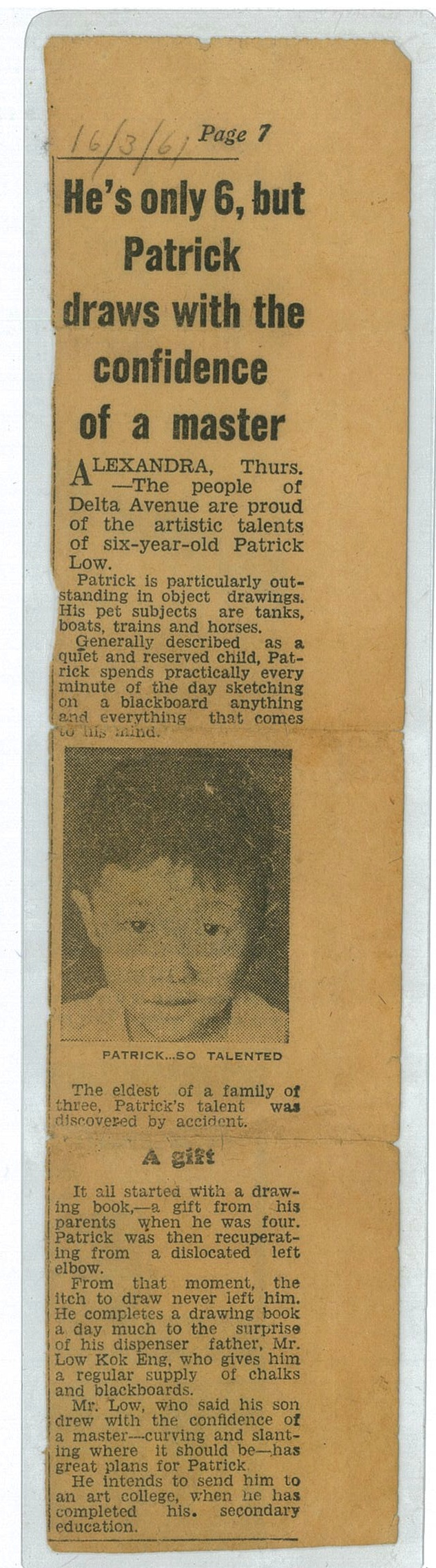 Pat_6 year old_News