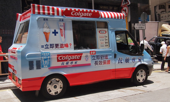 The Colgate ice cream truck.