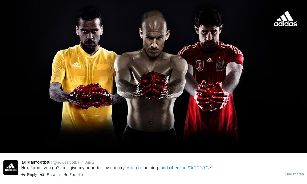 Look Adidas Bloody World Cup Ad Draws Controversy