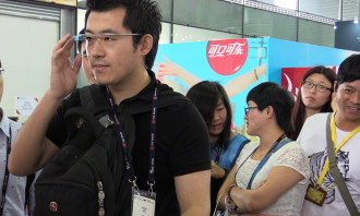 Google Glass on Show at Mobile Asia Expo