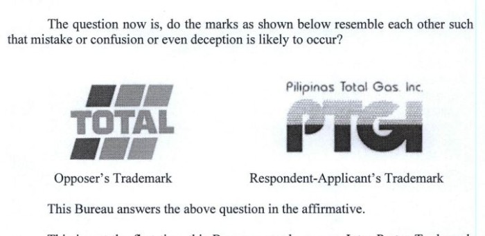 Total SA Trademark case