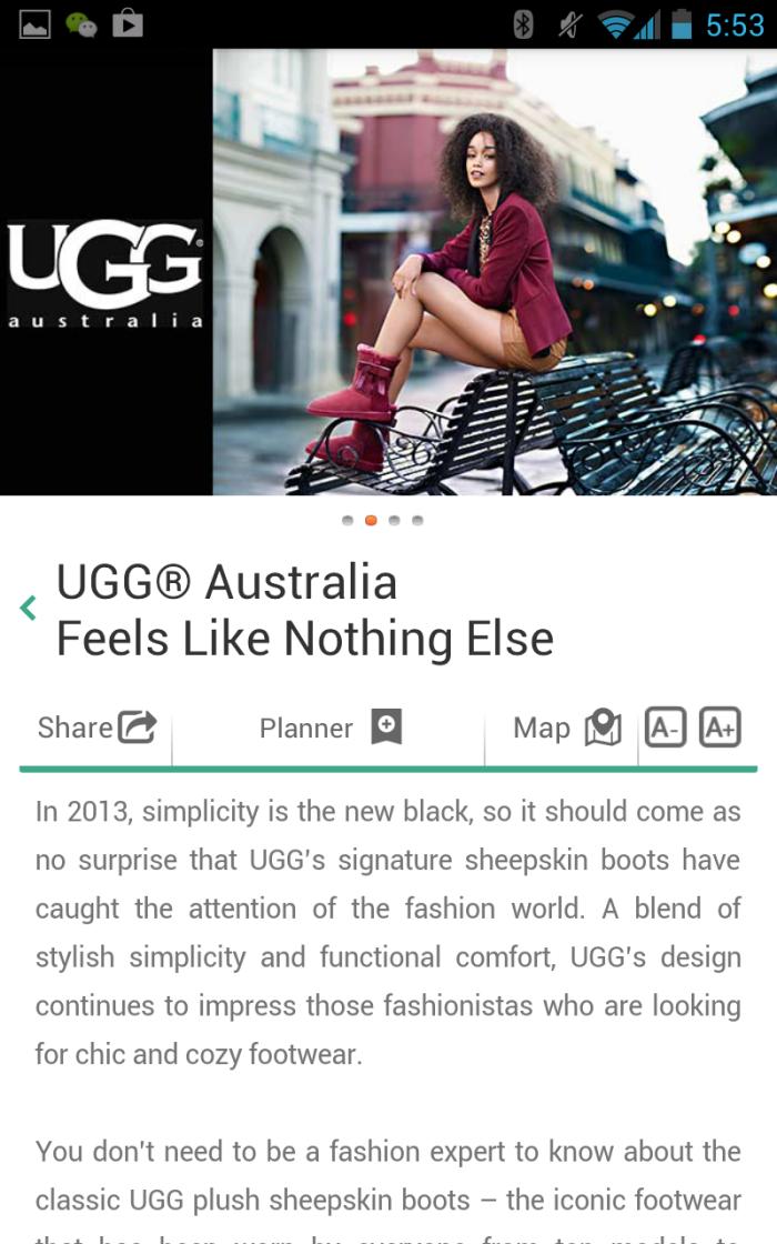 Ugg Australia Mobile App Red