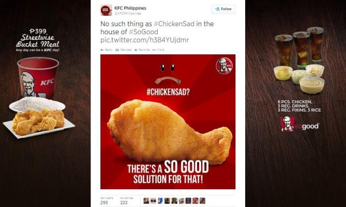 #ChickenSad KFC