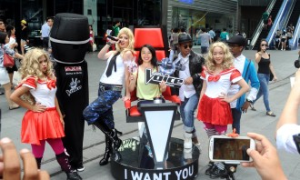 AXN The Voice activation on Orchard Road