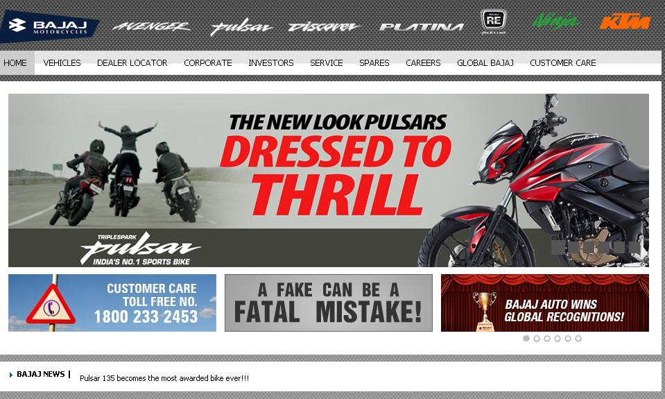 marketing mix of bajaj auto