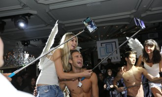 The moment when the angels first descended on the party.