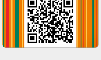 QR code for topping up, paying or collecting points in-store.