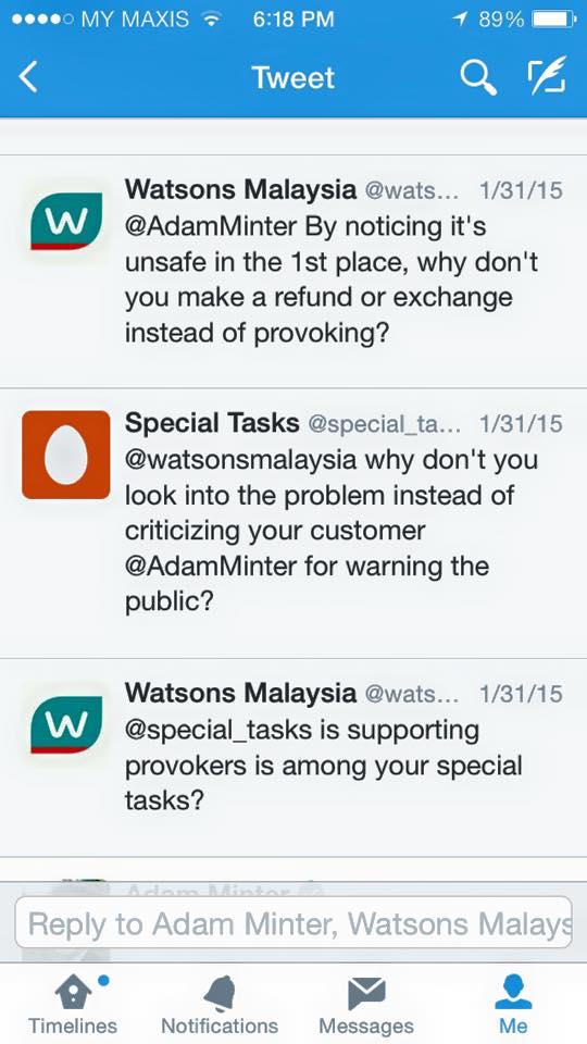 watsons malaysia tweet