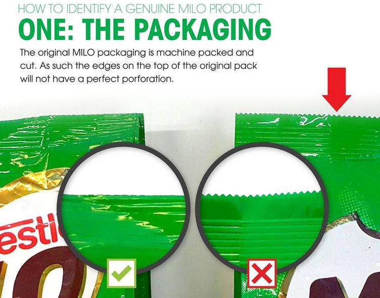 Milo packaging
