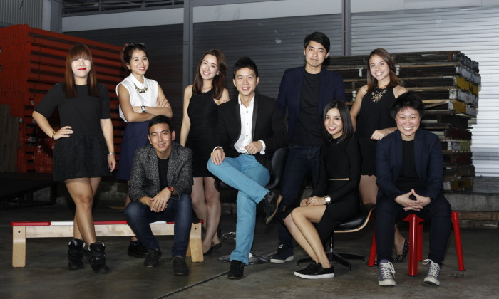 Gushcloud team with Vincent Ha in the centre, Althea Lim extreme right, seated