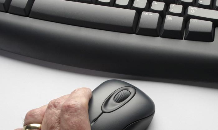 Older computer user