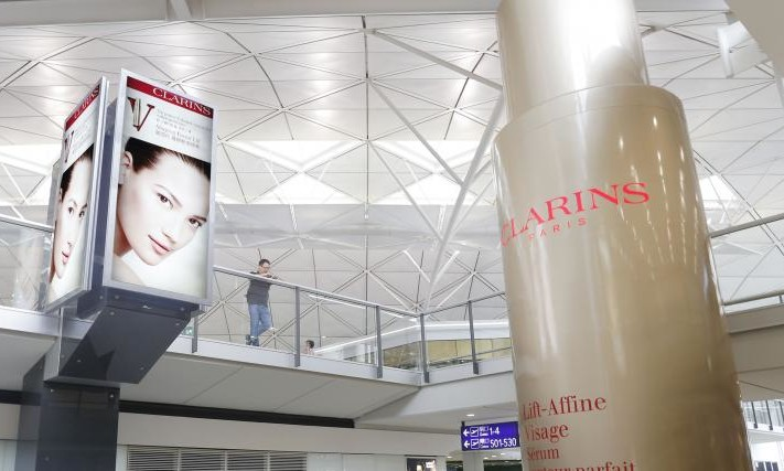 Clarins Creates A Colossal 3d Display At Hkia Marketing
