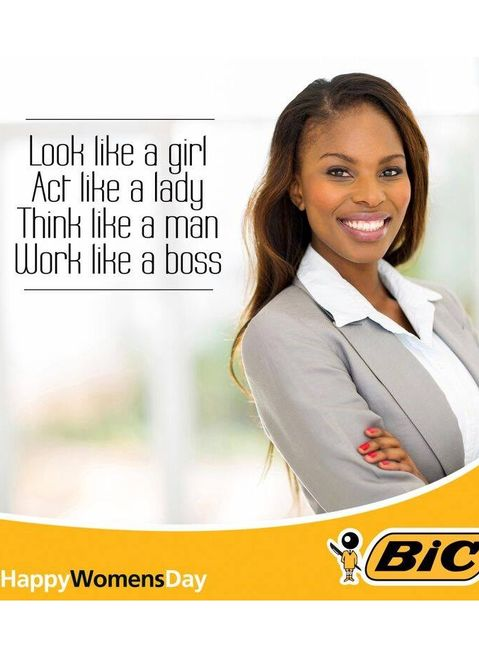Bic's apology for sexist Women's Day ad spurned by users