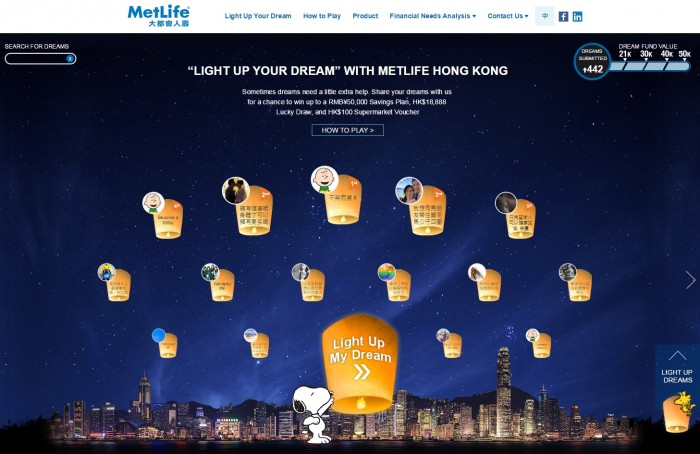 Light Up Your Dreams with MetLife Hong Kong Microsite