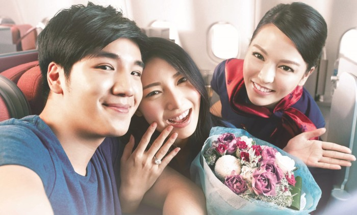 Photo 1 - Inflight Proposal & Wedding anniversary celebration