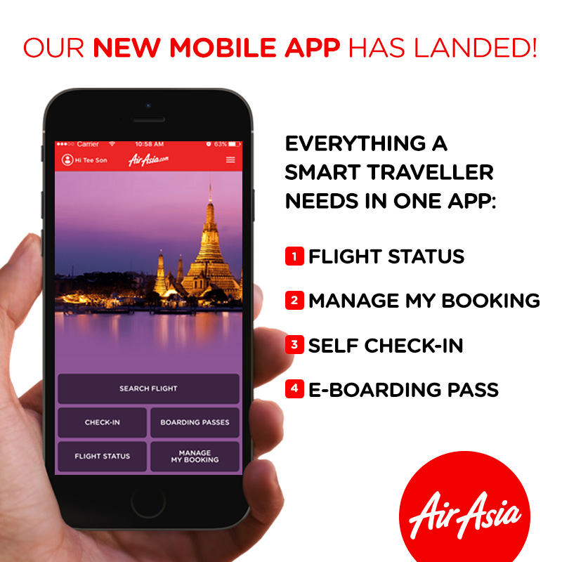 Airasia Revamps Its Mobile App For Better User Experience