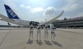 Stromtroopers with R2-D2 ANA Jet at Singapore Changi Airport