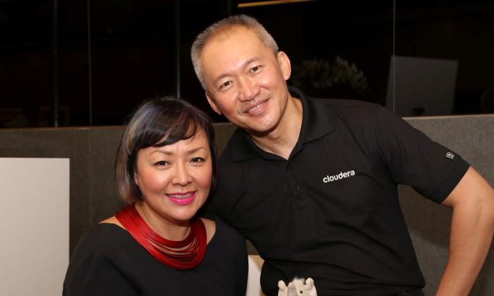 Daniel Ng senior director Marketing APAC Cloudera with Naeema Ismail General Manager Ying PR
