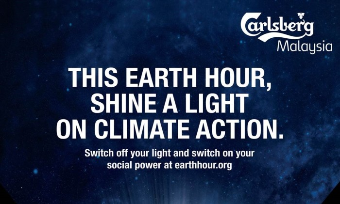 Carlsberg Malaysia Earth Hour 1