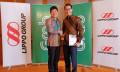Lippo-Grab partnership 03- Anthony Tan, Group CEO & Co-Founder, Grab and John Riady, Director, Lippo Group shake hands after signing the partnership agreement