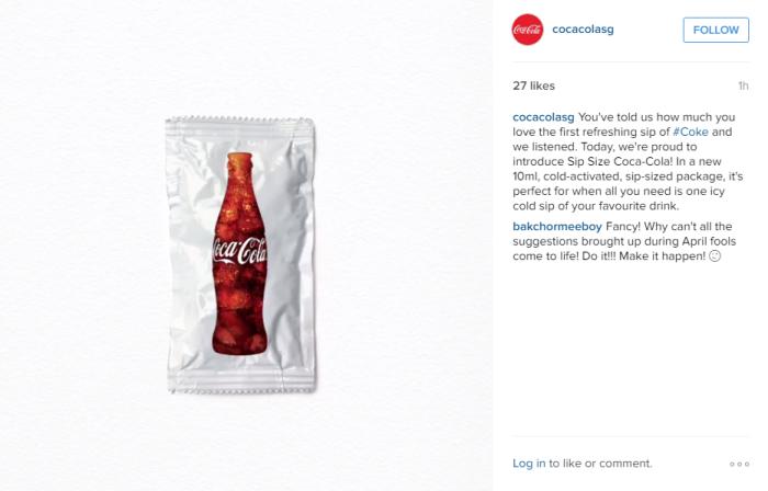 Coca Cola April Fools