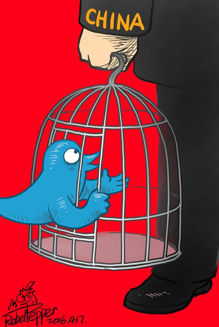 Cartoonist Rebel Pepper expresses fear that the appointment threatens Twitter's role as a bastion of free speech.