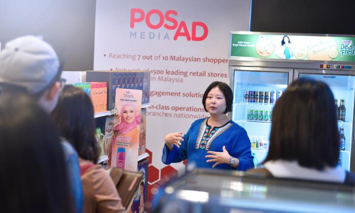 Sue Ann Chew expounding on shopper marketing
