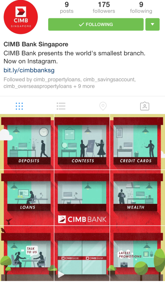 CIMB Bank Singapore Instagram Branch