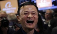 Alibaba-Jack-Ma-Laughing-At-IPO-First-Day
