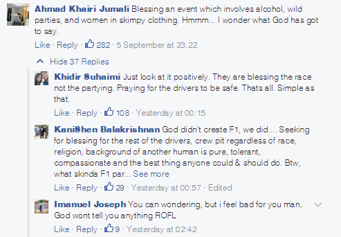 SGP blessing FB - reaction