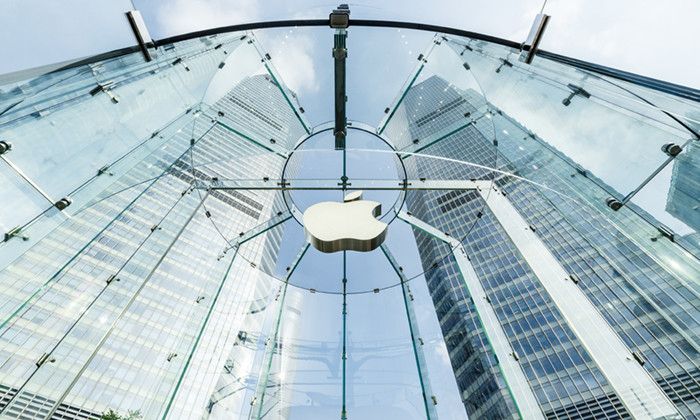 Shanghai, China - on May 25, 2016:The Apple store at the IFC Mall in Lujiazui Financial District。Apple Corp is a high-tech company in the United States。