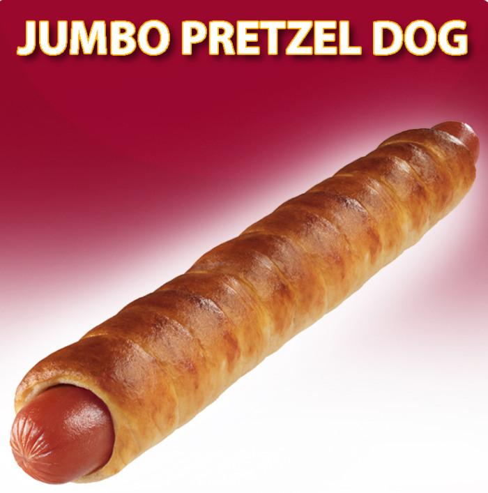Jumbo pretzel dog