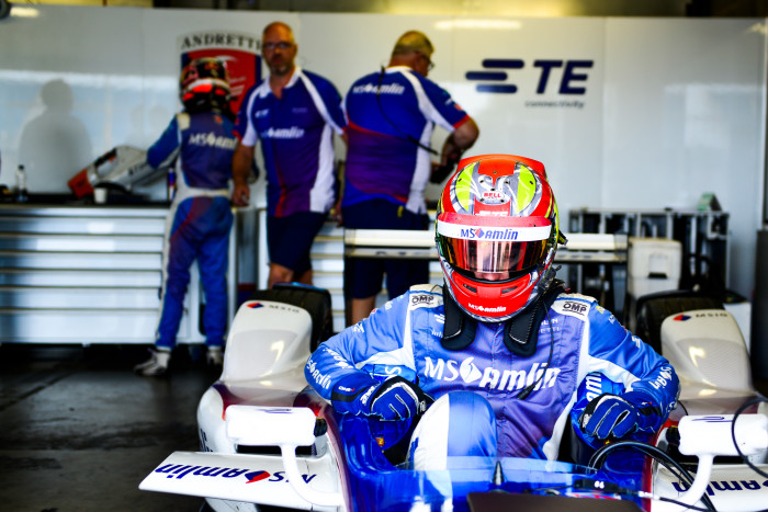 MS Amlin Andretti team Spacesuit-Media-Nat-Twiss-Formula-E-Donington-Park-September-2016-7138