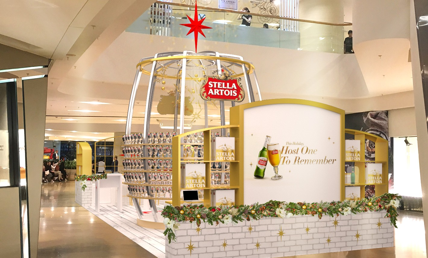 Stella Artois Rolls Out Christmas Pop Up Store Marketing